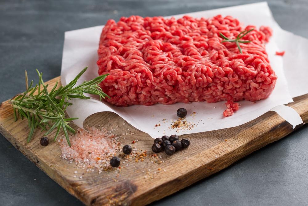 propriedades da carne moída